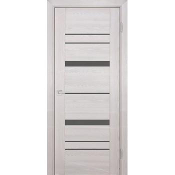 Дверь PSK-2 Ривьера крем  nanotex серый лакобель со стеклом (Товар № ZF13094)