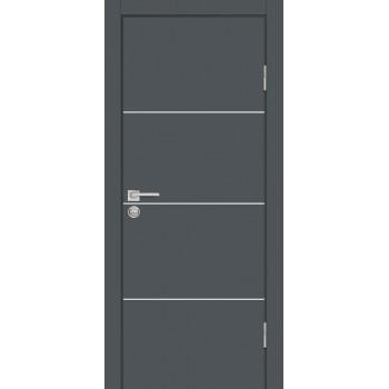 Дверь P-2 Графит  Экошпон глухое (Товар № ZF213296)