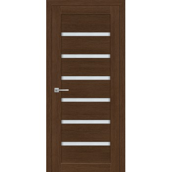 Дверь ТЕХНО-607 Орех Ночавелла  3D покрытие белый сатинат со стеклом (Товар № ZF12674)