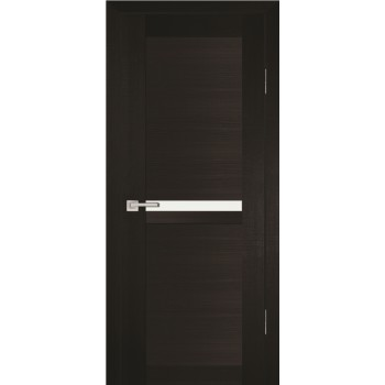 Дверь PS-03 Венге Мелинга  Экошпон белый сатинат со стеклом (Товар № ZF114091)