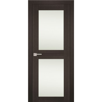 Дверь PS-04 Венге Мелинга  Экошпон белый сатинат со стеклом (Товар № ZF114097)