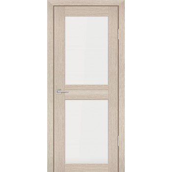 Дверь PS-04 Капучино Мелинга  Экошпон белый сатинат со стеклом (Товар № ZF114099)