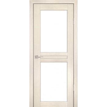 Дверь PS-04 ЭшВайт Мелинга  Экошпон белый сатинат со стеклом (Товар № ZF114101)