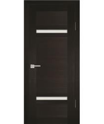 Дверь PS-05 Венге Мелинга  Экошпон белый сатинат со стеклом (Товар № ZF114102)