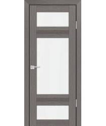 Дверь PS-06 Грей Мелинга  Экошпон белый сатинат со стеклом (Товар № ZF114109)