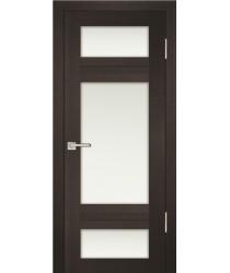 Дверь PS-06 Венге Мелинга  Экошпон белый сатинат со стеклом (Товар № ZF114108)