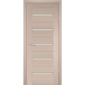 Дверь PS-07 Капучино Мелинга  Экошпон белый сатинат со стеклом (Товар № ZF114118)