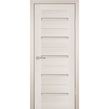 Дверь PS-07 ЭшВайт Мелинга  Экошпон белый сатинат со стеклом (Товар № ZF114125)