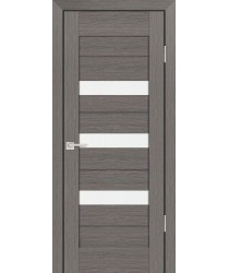 Дверь PS-09 Грей Мелинга  Экошпон белый сатинат со стеклом (Товар № ZF114130)