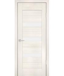 Дверь PS-09 ЭшВайт Мелинга  Экошпон белый сатинат со стеклом (Товар № ZF114134)