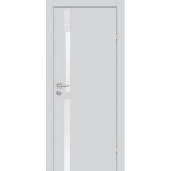 Дверь P-8 Агат  Экошпон белоснежный лакобель со стеклом (Товар № ZF213309)