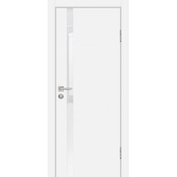 Дверь P-8 Белый  Экошпон белоснежный лакобель со стеклом (Товар № ZF213310)