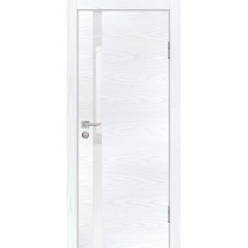 Дверь P-8 Дуб скай белый  Экошпон белоснежный лакобель со стеклом (Товар № ZF213311)