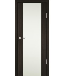 Дверь PS-24 Мокко  Экошпон Белое триплекс со стеклом (Товар № ZF114226)