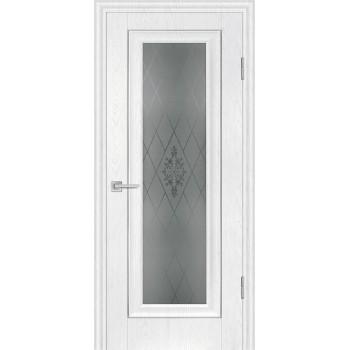Дверь PSB-25 Пломбир  Экошпон Сатинат, пескоструйная обработка со стеклом (Товар № ZF114269)
