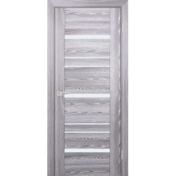 Дверь PSK-3 Ривьера грей  nanotex белый лакобель со стеклом (Товар № ZF114362)
