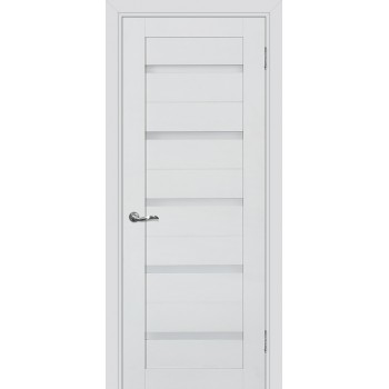 Дверь PSC-7 Агат  Экошпон белый сатинат со стеклом (Товар № ZF213327)