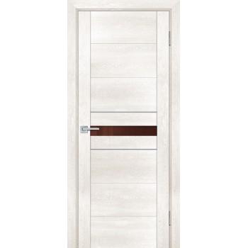 Дверь PSN- 3 Бьянко антико  nanoflex кофе лакобель со стеклом (Товар № ZF114394)