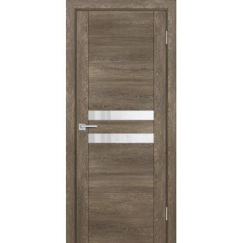 Дверь PSN- 4 Бруно антико  nanoflex белый лакобель со стеклом (Товар № ZF114397)