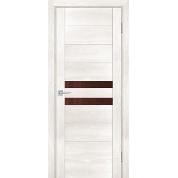Дверь PSN- 4 Бьянко антико  nanoflex кофе лакобель со стеклом (Товар № ZF114398)