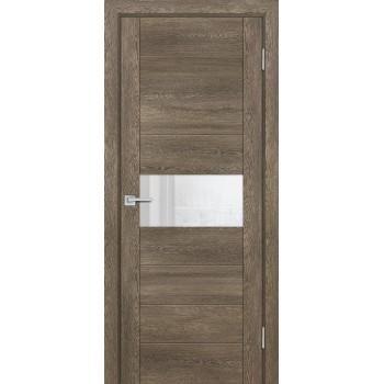 Дверь PSN- 5 Бруно антико  nanoflex белый лакобель со стеклом (Товар № ZF114401)