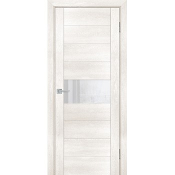 Дверь PSN- 5 Бьянко антико  nanoflex белый лакобель со стеклом (Товар № ZF114402)