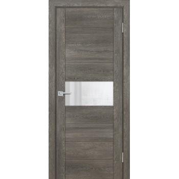 Дверь PSN- 5 Гриджио антико  nanoflex белый лакобель со стеклом (Товар № ZF114404)