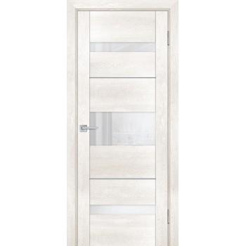 Дверь PSN- 7 Бьянко антико  nanoflex белый лакобель со стеклом (Товар № ZF114411)