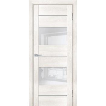Дверь PSN- 8 Бьянко антико  nanoflex белый лакобель со стеклом (Товар № ZF114415)