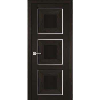 Дверь PSS-31 Мокко  Экошпон черный лакобель со стеклом (Товар № ZF114453)
