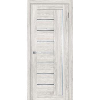 Дверь PSL-17 Сан-ремо крем  nanotex графит сатинат со стеклом (Товар № ZF213338)