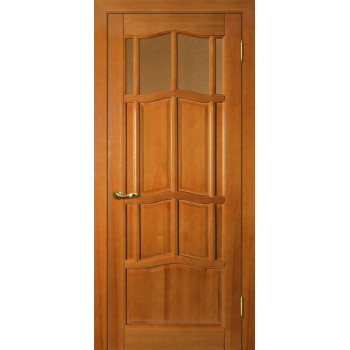 Дверь Ампир ДВО Тонированная сосна  Массив Бронза рифленное со стеклом (Товар № ZF114525)