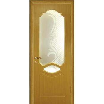 Дверь Венеция Дуб  PVC Сатинат, художественное, фьюзинг со стеклом (Товар № ZF114537)