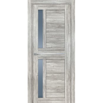 Дверь PSL-19 Сан-ремо серый  nanotex графит сатинат со стеклом (Товар № ZF213344)
