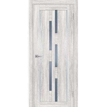 Дверь PSL-33 Сан-ремо крем  nanotex графит сатинат со стеклом (Товар № ZF213346)