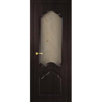 Дверь Кардинал Венге Мелинга  Экошпон Сатинат, художественное, фьюзинг со стеклом (Товар № ZF114592)