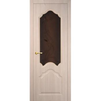 Дверь Кардинал Капучино Мелинга  Экошпон Бронза сатинат, художественное, фьюзинг со стеклом (Товар № ZF114594)