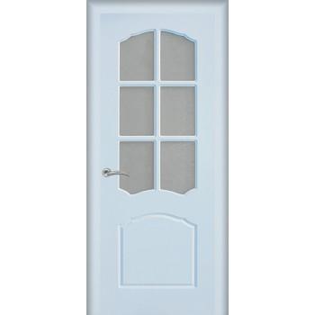 Дверь Лидия Белый  PVC Бронза рифленное со стеклом (Товар № ZF114611)