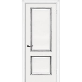 Дверь Мурано-1 Белый серебро  Экошпон глухое (Товар № ZF114625)