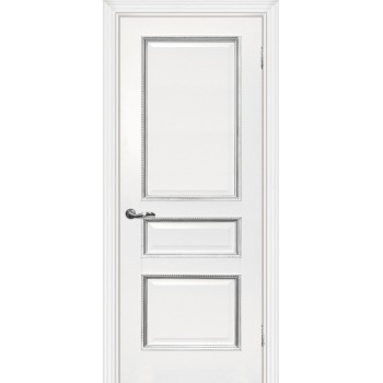 Дверь Мурано-2 Белый серебро  Экошпон глухое (Товар № ZF114631)
