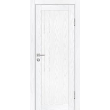 Дверь PSM-10 Дуб скай белый  Экошпон белоснежный лакобель со стеклом (Товар № ZF213353)
