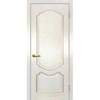 Дверь Сиена-2 патина Белый золото  PVC глухое (Товар № ZF114663)