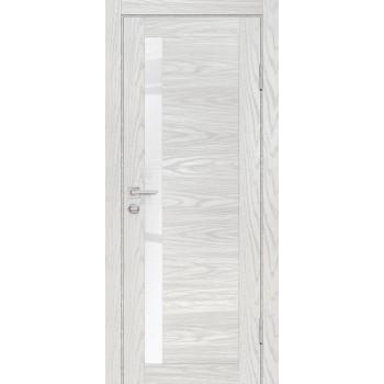 Дверь PSM-11 Дуб скай бежевый  Экошпон белоснежный лакобель со стеклом (Товар № ZF213357)