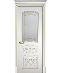 Дверь Смальта 05 Белый ral 9003 патина золото  Эмаль Сатинат, шелкотрафаретная печать со стеклом (Товар № ZF114718)