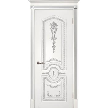 Дверь Смальта 11 Белый ral 9003 патина серебро  Эмаль глухое (Товар № ZF114743)