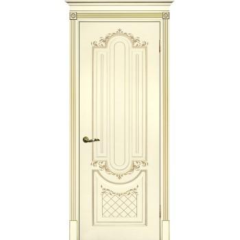 Дверь Смальта 13 Слоновая кость ral 1013 патина золото  Эмаль глухое (Товар № ZF114756)