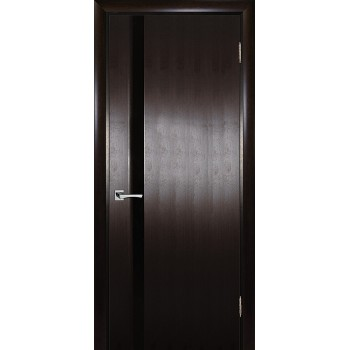 Дверь Страто 01 Тонированный черный дуб  Шпон Черное триплекс со стеклом (Товар № ZF114762)