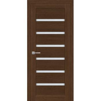 Дверь ТЕХНО-607 Орех Ночавелла  3D покрытие белый сатинат со стеклом (Товар № ZF114771)