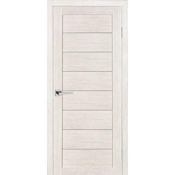 Дверь ТЕХНО-608 ЭшВайт  3D покрытие белый сатинат со стеклом (Товар № ZF114778)