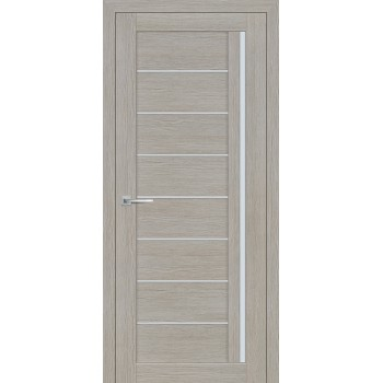 Дверь ТЕХНО-641 Светло серый  3D покрытие белый сатинат со стеклом (Товар № ZF114782)